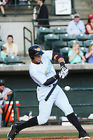 Charleston RiverDogs outfielder Aaron Judge #35 at bat during a game against the Augusta GreenJackets  at Joseph P. Riley Jr. Ballpark  on April 13, 2014 in Charleston, South Carolina. Augusta defeated Charleston 2-1. (Robert Gurganus/Four Seam Images)