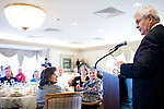 Republican presidential hopeful Newt Gingrich speaks during a campaign stop at the Cedar Rapids Country Club on Thursday, August 4, 2011 in Cedar Rapids, IA.