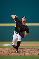 Bradenton Marauders relief pitcher Hunter Stratton (22) during a Florida State League game against the Palm Beach Cardinals on May 10, 2019 at LECOM Park in Bradenton, Florida.  Bradenton defeated Palm Beach 5-1.  (Mike Janes/Four Seam Images)