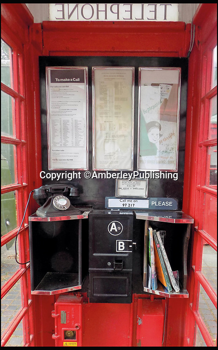 BNPS.co.uk (01202 558833)<br /> Pic: AmberleyPublishing/BNPS<br /> <br /> The modified interior configuration of a K6 kiosk, comprising three rectangular notice frames and a re-positioned emergency services call notice.<br /> <br /> The iconic British phonebox has been given a ringing endorsement in a new book charting the expiring institution's fascinating history. <br /> <br /> Aptly titled 'The British Phonebox', the book primarily focuses on the ubiquitous design that's as emblematic to Britain as the black cab, double decker bus and Houses of Parliament. <br /> <br /> Equally interesting are the early chapters, which detail the phonebox's humble 19th century beginnings and the final ones, that bemoan their dwindling numbers <br /> <br /> The 96 page paperback, jointly authored by friends Nigel Linge and Andy Sutton, is published by Amberley and costs £13.49.
