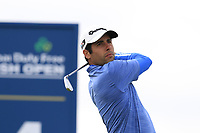Adrian Otaegui (ESP) tees off the 14th tee during Thursday's Round 1 of the 2018 Dubai Duty Free Irish Open, held at Ballyliffin Golf Club, Ireland. 5th July 2018.<br /> Picture: Eoin Clarke | Golffile<br /> <br /> <br /> All photos usage must carry mandatory copyright credit (&copy; Golffile | Eoin Clarke)