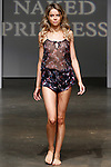 Model walks runway in outfit from the Naked Princess Fall 2014 collection, during Lingerie Fashion Week Fall Winter 2014, on February 21, 2014.