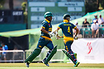 Jerry Nqolo and Aubrey Swanepoel of South Africa run between the wickets during Day 1 of Hong Kong Cricket World Sixes 2017 Group A match between Marylebone Cricket Club vs South Africa at Kowloon Cricket Club on 28 October 2017, in Hong Kong, China. Photo by Yu Chun Christopher Wong / Power Sport Images