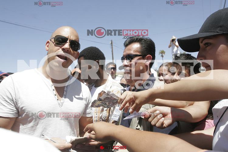 Vin Diesel and Paul Walker died during recordings in Mexico 2008<br /> <br /> Vin Diesel  y el fallecido Paul Walker durante grabaciones en  Mexico  2008