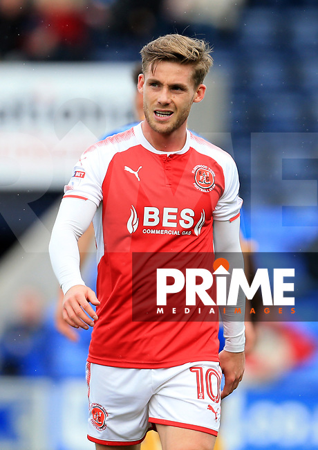 Conor McAleny of Fleetwood Town during the Sky Bet League 1 match between Shrewsbury Town and Fleetwood Town at Greenhous Meadow, Shrewsbury, England on 21 October 2017. Photo by Leila Coker / PRiME Media Images.