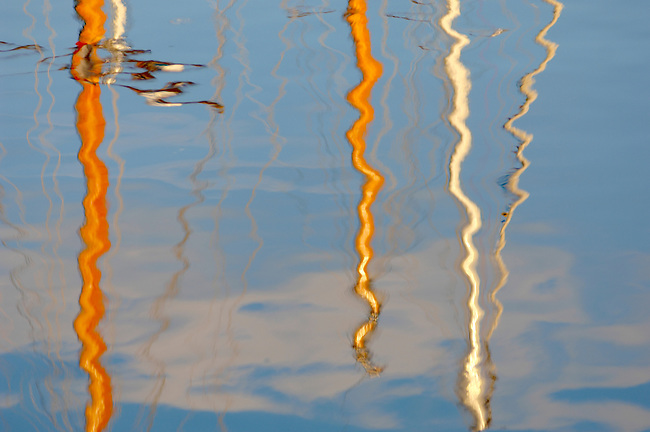 Reflections In Water - Honfleur France