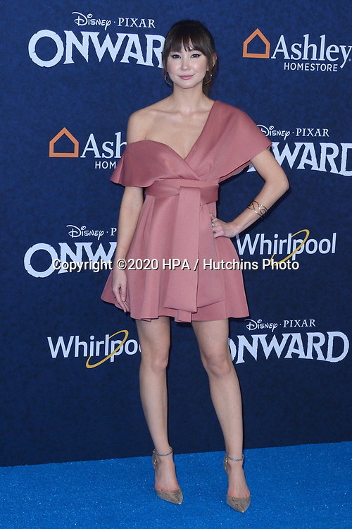 """LOS ANGELES - FEB 18:  Kimiko Glenn at the """"Onward"""" Premiere at the El Capitan Theater on February 18, 2020 in Los Angeles, CA"""
