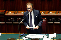 Italian Minister of Justice Alfonso Bonafede  during the Premier speech about the European Council at the Chamber of Deputies. Rome (Italy), July 22nd 2020<br /> Foto Samantha Zucchi Insidefoto