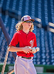 22 May 2015: Washington Nationals outfielder Jayson Werth's son, Jackson Werth, helps out during batting practice prior to a game against the Philadelphia Phillies at Nationals Park in Washington, DC. The Nationals defeated the Phillies 2-1 in the first game of their 3-game weekend series. Mandatory Credit: Ed Wolfstein Photo *** RAW (NEF) Image File Available ***