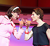 Pedro Almodovar's<br /> Women on the Verge of a nervous breakdown The Musical <br /> at the Playhouse Theatre, London, Great Britain <br /> press photocall<br /> 23rd December 2014 <br /> <br /> Haydn Gwynne as Lucia <br /> Tamsin Greig as Pepa <br /> <br /> <br /> Photograph by Elliott Franks <br /> Image licensed to Elliott Franks Photography Services