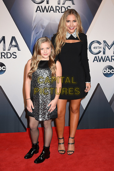 4 November 2015 - Nashville, Tennessee - Maisy Stella, Lennon Stella. 49th CMA Awards, Country Music's Biggest Night, held at Bridgestone Arena. <br /> CAP/ADM/LF<br /> &copy;LF/ADM/Capital Pictures