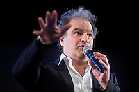"French humorist Raphael Mezrahi during his show "" Ma grand mere vous adore! "" in Theatre les Feux de la Rampe on december 31 2016, in Paris."