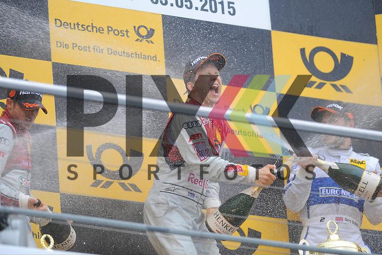 v.l. # 48 Edoardo Mortara auf Audi RS5 DTM vom Audi Sport Team Abt Sportsline, # 5 Mattias Ekstroem auf Audi RS5 DTM Audi Sport vom Team Abt Sportsline und # 2 Gary Paffett auf Mercedes-AMG C 63 DTM vom ART Grand Prix  beim Rennen der DTM auf dem Hockenheimring.<br /> <br /> Foto &copy; P-I-X.org *** Foto ist honorarpflichtig! *** Auf Anfrage in hoeherer Qualitaet/Aufloesung. Belegexemplar erbeten. Veroeffentlichung ausschliesslich fuer journalistisch-publizistische Zwecke. For editorial use only.