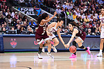 DALLAS, TX - MARCH 31:  Saniya Chong #12 of the Connecticut Huskies drives to the basket during the 2017 Women's Final Four at American Airlines Center on March 31, 2017 in Dallas, Texas. (Photo by Justin Tafoya/NCAA Photos via Getty Images)
