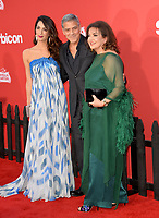 Amal Clooney, George Clooney &amp; Baria Alumuddin at the premiere for &quot;Suburbicon&quot; at the Regency Village Theatre, Westwood. Los Angeles, USA 22 October  2017<br /> Picture: Paul Smith/Featureflash/SilverHub 0208 004 5359 sales@silverhubmedia.com