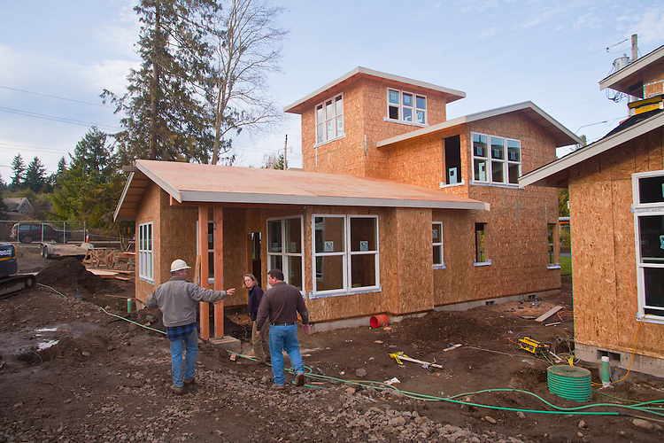 Linda Pruitt, developer, contractors, Chico Beach Cottages, New Construction, January 26, 2011, built green, cottage houses, Silverdale, Dyes Inlet, The Cottage Company, Seattle, Washington, Pacific Northwest, USA,
