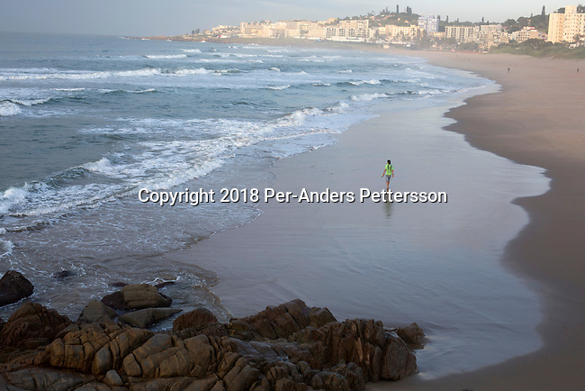 MARGATE, SOUTH AFRICA APRIL 25: A view of the beach in the early morning on April 25, 2018 in Margate, KwaZulu Natal, South Africa. The area is a popular holiday resort for South Africans. (Photo by: Per-Anders Pettersson/Getty Images)