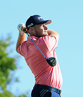 Tyrrell Hatton (ENG) during the second round of The Northern Trust, Liberty National Golf Club, Jersey City, New Jersey, USA. 09/08/2019.<br /> Picture Michael Cohen / Golffile.ie<br /> <br /> All photo usage must carry mandatory copyright credit (© Golffile | Michael Cohen)