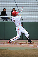 St. John's University Redstorm outfielder Pat Talbut (4) during game 1 of a double header against the University of Cincinnati Bearcats at Jack Kaiser Stadium on March 28, 2013 Queens, New York.  St. John's defeated Cincinnati 6-5 in game 1.                                                                 (Tomasso DeRosa/ Four Seam Images)