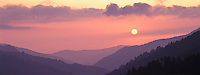 Sunset, Morton Overlook, Great Smoky Mountains National Park, Tennessee