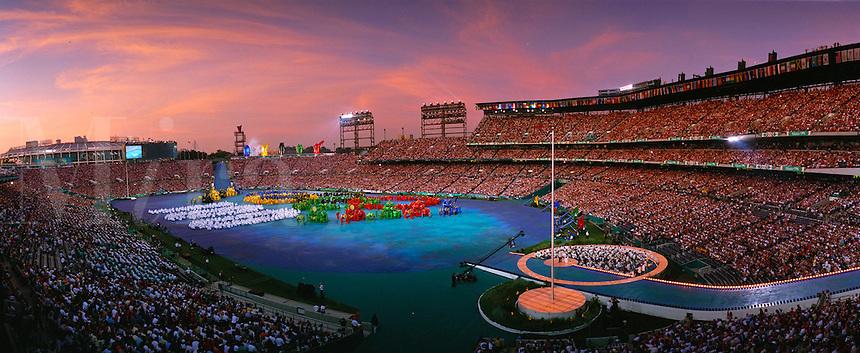 Atlanta Summer Olympics Opening Ceremonies. Atlanta Georgia United States Olympic Stadium.