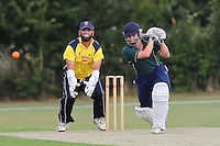 Upminster CC (yellow) vs Chelmsford CC - Semi-Final - Essex Cricket League Dukes T20 Finals Day at Billericay Cricket Club - 28/07/13 - MANDATORY CREDIT: Gavin Ellis/TGSPHOTO - Self billing applies where appropriate - 0845 094 6026 - contact@tgsphoto.co.uk - NO UNPAID USE