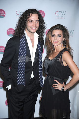 Constantine Maroulis and Angel Reed at the 2010 Cosmetic Executive Women Beauty Awards at The Waldorf=Astoria in New York City. May 21, 2010.Credit: Dennis Van Tine/MediaPunch