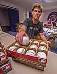 9 March 2014: Washington Nationals pitcher Ross Detwiler signs baseballs prior to a Spring Training game against the St. Louis Cardinals at Space Coast Stadium in Viera, Florida. The Nationals defeated the Cardinals 11-1 in Grapefruit League play. Mandatory Credit: Ed Wolfstein Photo *** RAW (NEF) Image File Available ***