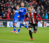 10th February 2018, Bramall Lane, Sheffield, England; EFL Championship football, Sheffield United versus Leeds United; Billy Sharp of Sheffield United celebrates scoring the winning goal in the 72nd minute making it 2-1 to Sheffield United