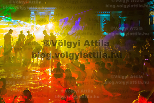 Cinetrip night bath party in Budapest, Hungary on August 05, 2012. ATTILA VOLGYI