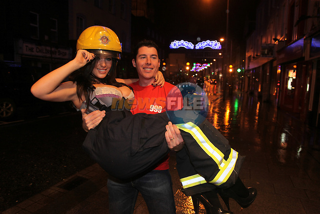 Nuts Girls Malene Espensen (Blonde) Lindsey Strutt and Casey Batchelor Launching the Drogheda Fire and rescue service calender 2010 at the earth night club in Drogheda.Pictured Paul Smith.Photo: Fran Caffrey/www.newsfile.ie...