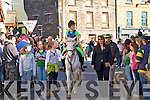 Tahing partat  the St Patricks Day parade in Dingle were Sorach Begley from Feonagh riding on Blizzard the horse. Also in picture are Dawn Hillard, Claire Hurley, Rebecca Moriarty Karen Cartier, Aidan Goode