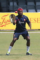 Donovan Miller of Essex with the pink ball during Essex CCC vs Middlesex CCC, Specsavers County Championship Division 1 Cricket at The Cloudfm County Ground on 26th June 2017