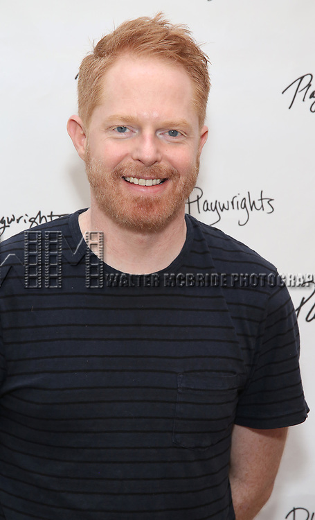 Jesse Tyler Ferguson attends the photo call for Playwrights Horizons world premiere production of 'Log Cabin' on May 8, 2018 at Playwrights Horizons rehearsal hall in New York City.