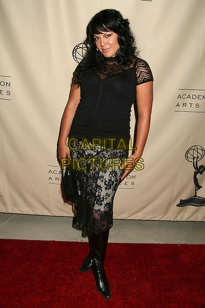 SARA RAMIREZ.58th Annual Primetime Emmy Award Nominees for Outstanding Writing Reception, Century City, California, USA..August 23rd, 2006.Ref: ADM/BP.full length black lace skirt top.www.capitalpictures.com.sales@capitalpictures.com.©Byron Purvis/AdMedia/Capital Pictures.