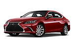 Stock pictures of low aggressive front three quarter view of a 2019 Lexus ES 350 4 Door Sedan