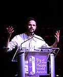 Jonny Orsini on stage at the 73rd Annual Theatre World Awards at The Imperial Theatre on June 5, 2017 in New York City.