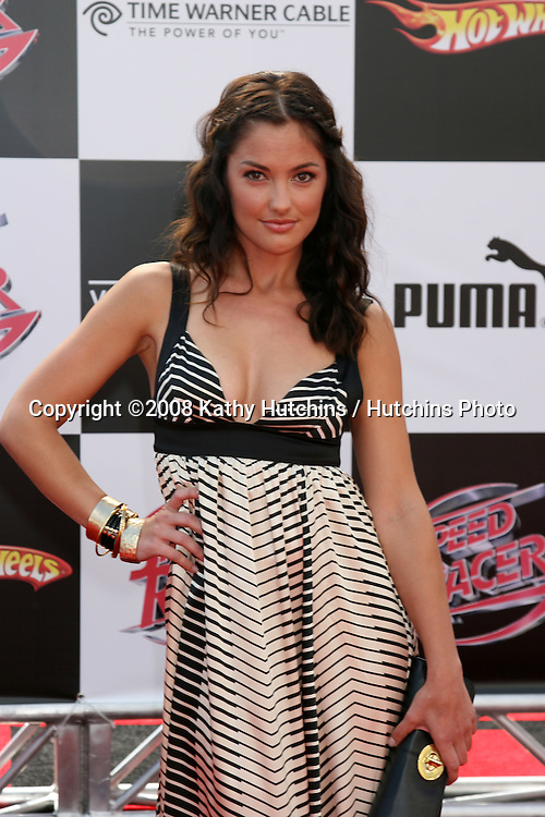 "Minka Kelly.""Speed Racer"" Premiere.Nokia Theater.Los Angeles, CA.April 26, 2008.©2008 Kathy Hutchins / Hutchins Photo"