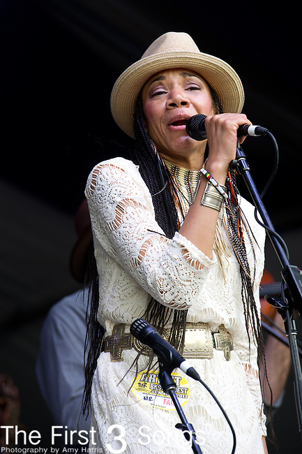 Martha Redbone performs during the New Orleans Jazz & Heritage Festival in New Orleans, LA.