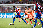 Crystal Palace midfielder Wilfried Zaha (L) is followed by Liverpool FC players during the Premier League Asia Trophy match between Liverpool FC and Crystal Palace FC at Hong Kong Stadium on 19 July 2017, in Hong Kong, China. Photo by Yu Chun Christopher Wong / Power Sport Images