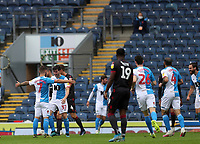 18th July 2020; Ewood Park, Blackburn, Lancashire, England; English Football League Championship Football, Blackburn Rovers versus Reading; Adam Armstrong of Blackburn Rovers celebrates after giving his team a 2-0 lead after 6 minutes