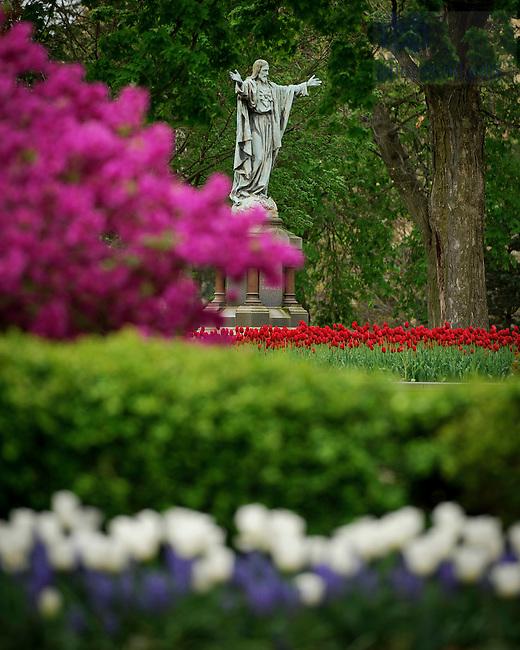 Apr. 16, 2012; Sacred Heart Jesus Statue..Photo by Matt Cashore/University of Notre Dame