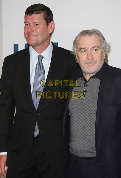 NEW YORK, NY - DECEMBER 13: James Parker and Robert De Niro at the World Premiere of Joy at the Ziegfeld Theatre in New York City on December 13, 2015. <br /> CAP/MPI/RW<br /> &copy;RW/MPI/Capital Pictures
