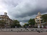 Stadtzentrum Mariupol, Ukrainische Fahnen