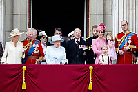 17 June 2017 - London, England - Queen Elizabeth II and Prince Philip, Duke of Edinburgh, Prince William, Catherine, Kate, Duchess of Cambridge and Prince George and Princess Charlotte, Prince Harry, Prince Charles, Prince of Wales and Camilla, Duchess of Cornwall and Catherine, Kate, Duchess of Cambridge, Princess and Eugenie and Princess Beatrice and Prince Andrew. The ceremony of the Trooping the Colour, marking the monarch's official birthday, in London. Photo Credit: PPE/face to face/AdMedia