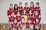 Pictured at the Futsal Indoor Soccer Competition at Mounthawk on Thursday is the Killarney Community College team, front row l-r: Razia McCannon, Dominika Gwizdzinska, Chloe Dennehy, Kaylyn Murhill.  Middle row l-r: Sheila Mary Breen, Chelsea Coffey, Louise Lanigan, Laura Daly, Abigail Graham. Back row l-r: Sheyenne Kehoe, Megan Brosnan, Michelle Lynch-Maguire, Keelie O'Connor, Gráinne Dineen, Leah Kelly..