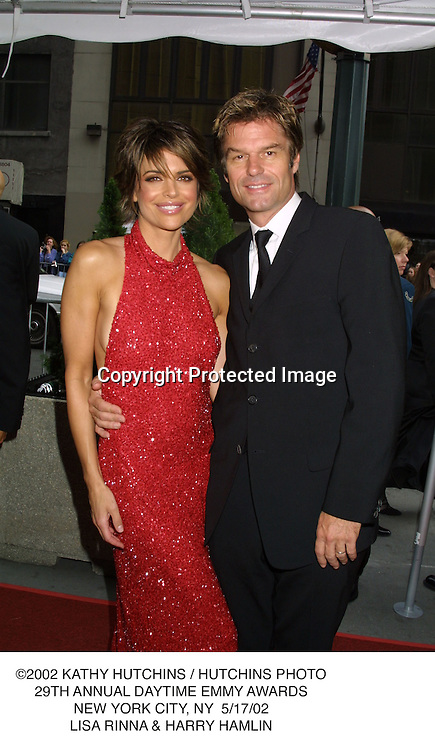 ©2002 KATHY HUTCHINS / HUTCHINS PHOTO.29TH ANNUAL DAYTIME EMMY AWARDS.NEW YORK CITY, NY  5/17/02.LISA RINNA & HARRY HAMLIN