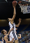 Nevada forward Johncarlos Reyes (12) shoots against  Colorado Christian during the second half of an NCAA college basketball game in Reno, Nev., Wednesday, Oct. 30, 2019.