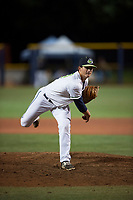 Hillsboro Hops relief pitcher Josh Green (31) follows through on his delivery during a Northwest League game against the Salem-Keizer Volcanoes at Ron Tonkin Field on September 1, 2018 in Hillsboro, Oregon. The Salem-Keizer Volcanoes defeated the Hillsboro Hops by a score of 3-1. (Zachary Lucy/Four Seam Images)