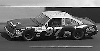 Morgan Shepherd competes in the Busch Series race at Darlington Raceway in Darlington, SC on March 19, 1988. (Photo by Brian Cleary/www.bcpix.com)
